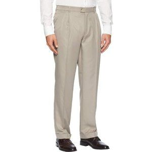 Perry Ellis Classic Relaxed Fit Dress Pants Grey